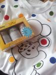 Picture tutorial on Decolourant plus T-shirt sponge prints – Pudsey Bear
